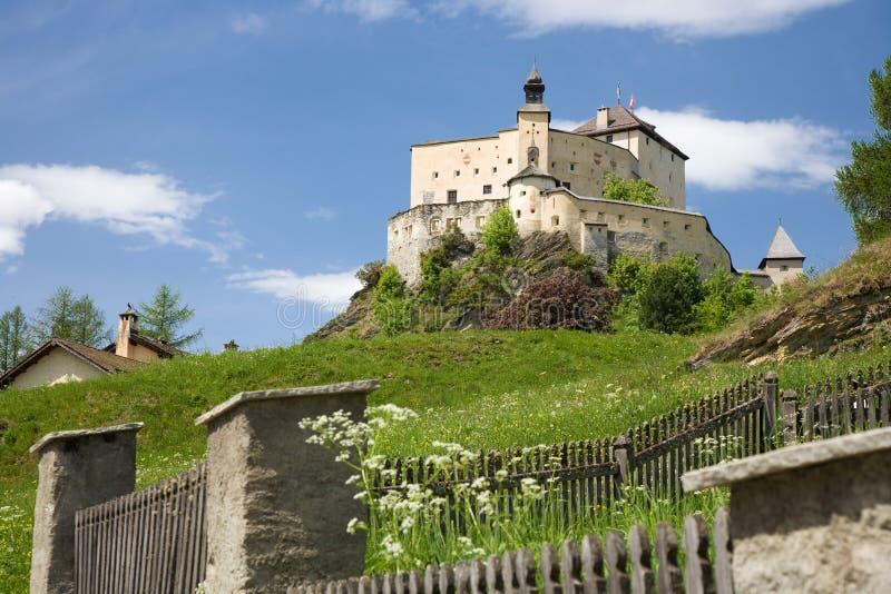 κάστρο tarasp στοκ φωτογραφίες