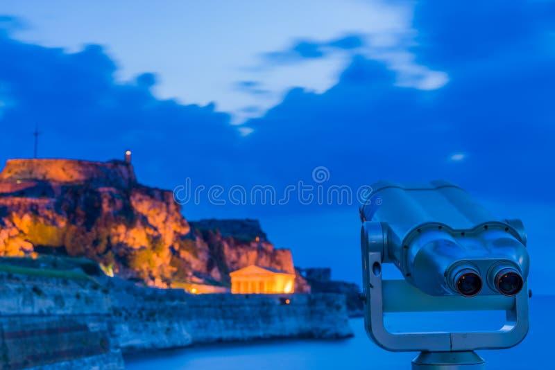 κάστρων παλαιός ναός νησιών της Κέρκυρας ελληνικός στοκ φωτογραφία με δικαίωμα ελεύθερης χρήσης