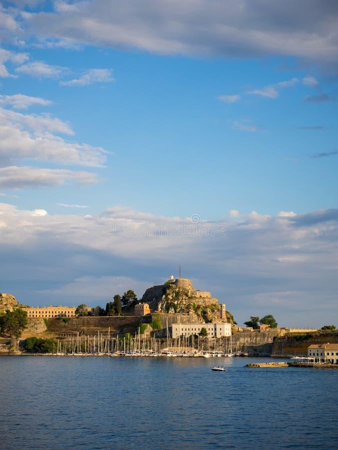 κάστρων παλαιός ναός νησιών της Κέρκυρας ελληνικός στοκ εικόνα