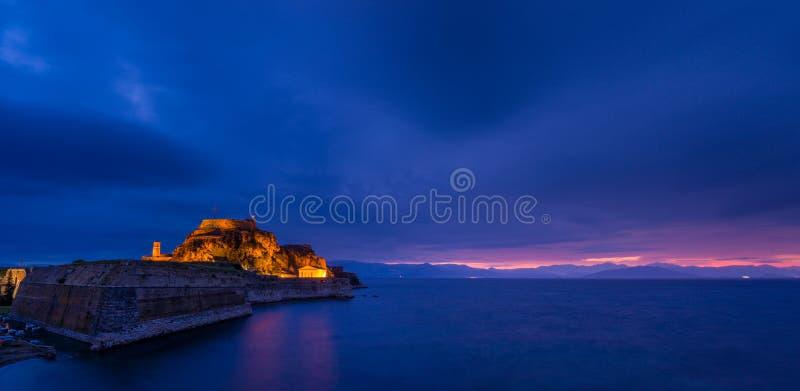 κάστρων παλαιός ναός νησιών της Κέρκυρας ελληνικός στοκ εικόνες