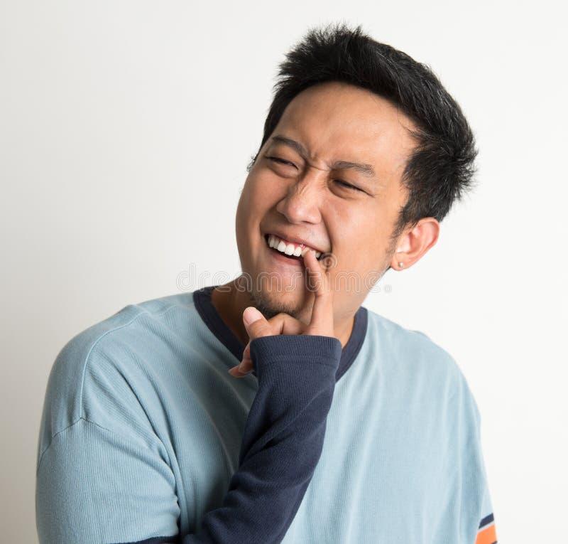 Κάτι που κολλιέται στα δόντια στοκ φωτογραφίες με δικαίωμα ελεύθερης χρήσης