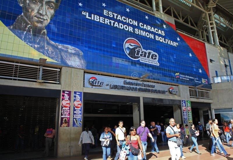 Κάτοχοι διαρκούς εισιτήριου στο Καράκας, Βενεζουέλα στοκ εικόνα