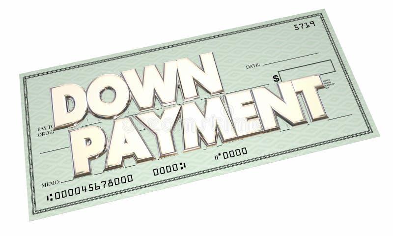 Κάτω από - έλεγχος μετρητών υποθηκών χρηματοδότησης δανείου πληρωμής διανυσματική απεικόνιση