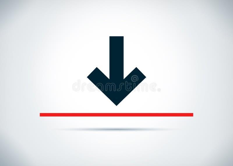 Κάτω από την αφηρημένη επίπεδη απεικόνιση σχεδίου υποβάθρου εικονιδίων βελών ελεύθερη απεικόνιση δικαιώματος