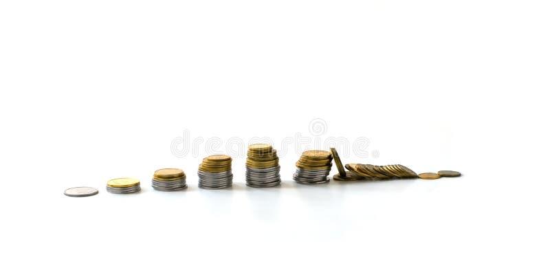 κάτω από την πτώση οικονομι&kap στοκ εικόνα