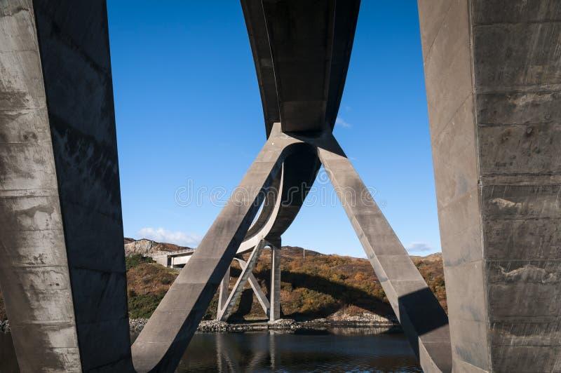 Κάτω από τη γέφυρα Kylesku στοκ εικόνα