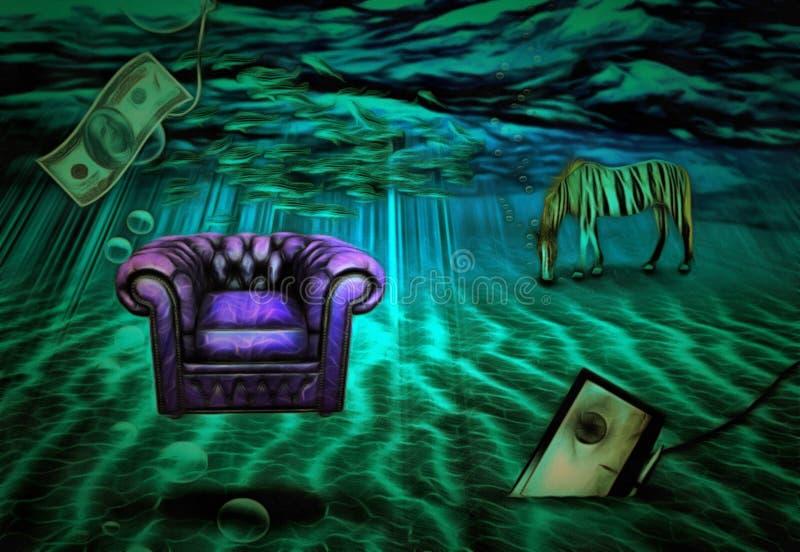 Κάτω από τη θάλασσα απεικόνιση αποθεμάτων