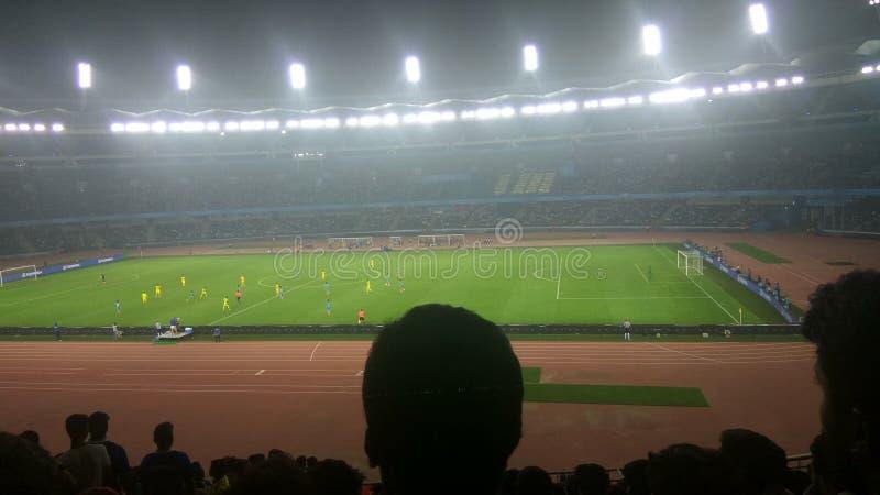 Κάτω από το Παγκόσμιο Κύπελλο 17 FIFA {Ινδία εναντίον της Κολούμπια} στοκ φωτογραφία