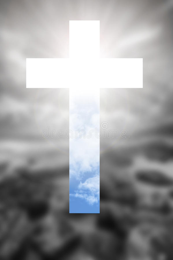 Κάτω από το σκοτάδι, εάν να έχοντας το Θεό στην καρδιά σας, θα βρώ στοκ φωτογραφία με δικαίωμα ελεύθερης χρήσης
