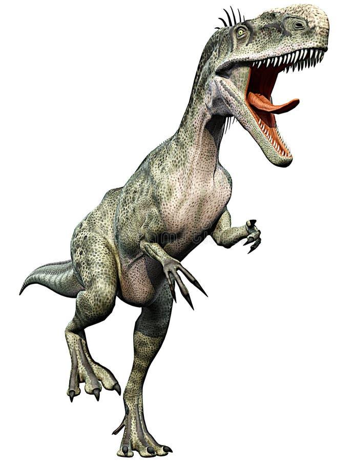 κάτω από το monolophosaurus για να εμφανί&s διανυσματική απεικόνιση