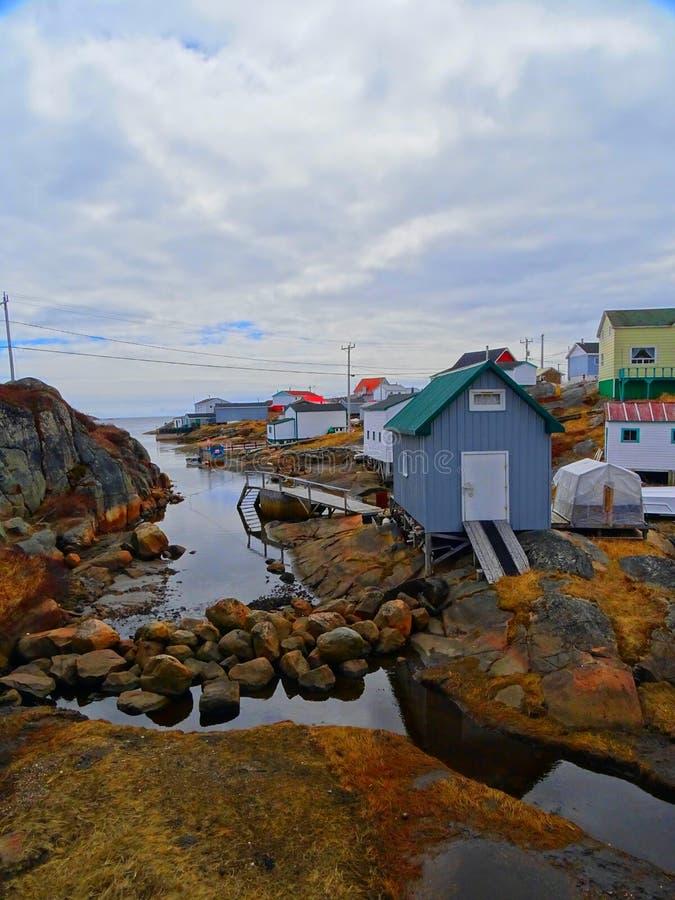 Κάτω Βόρεια Ακτή, Χωριό Harrington Harbor στοκ φωτογραφίες με δικαίωμα ελεύθερης χρήσης