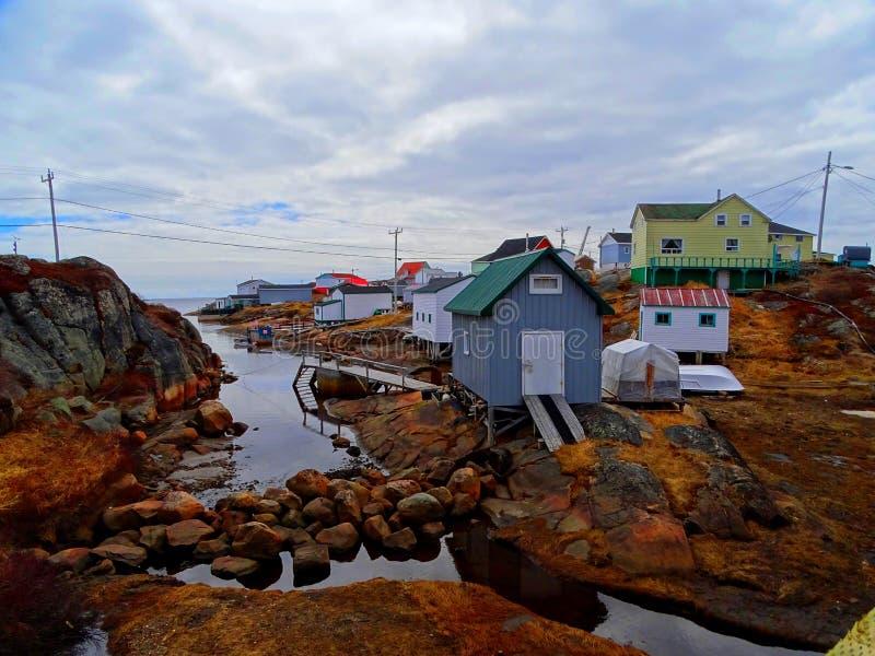 Κάτω Βόρεια Ακτή, Χωριό Harrington Harbor στοκ φωτογραφία