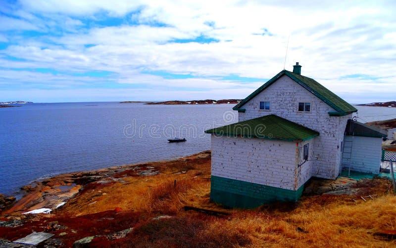 Κάτω Βόρεια Ακτή, Χωριό Harrington Harbor στοκ φωτογραφία με δικαίωμα ελεύθερης χρήσης