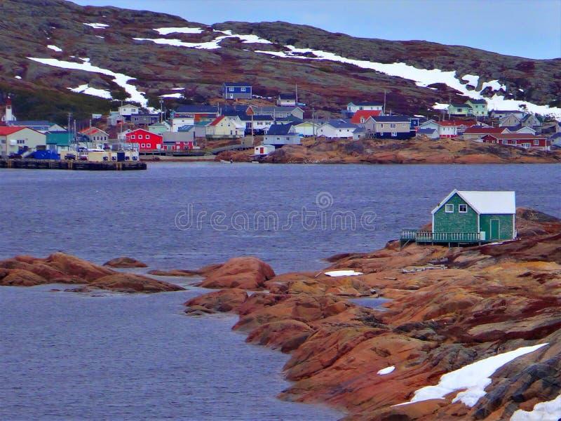 Κάτω Βόρεια Ακτή, Χωριό Harrington Harbor στοκ εικόνες με δικαίωμα ελεύθερης χρήσης