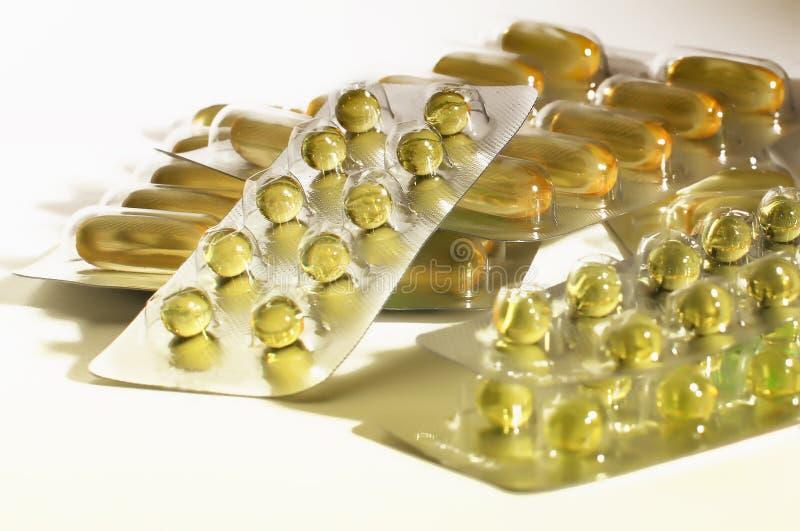 Κάψες βιταμινών Ε στοκ φωτογραφία με δικαίωμα ελεύθερης χρήσης