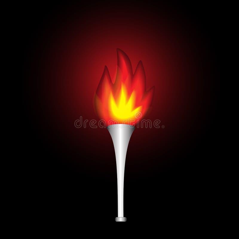 Κάψιμο στο σκοτεινό ρεαλιστικό φανό στοκ φωτογραφία με δικαίωμα ελεύθερης χρήσης