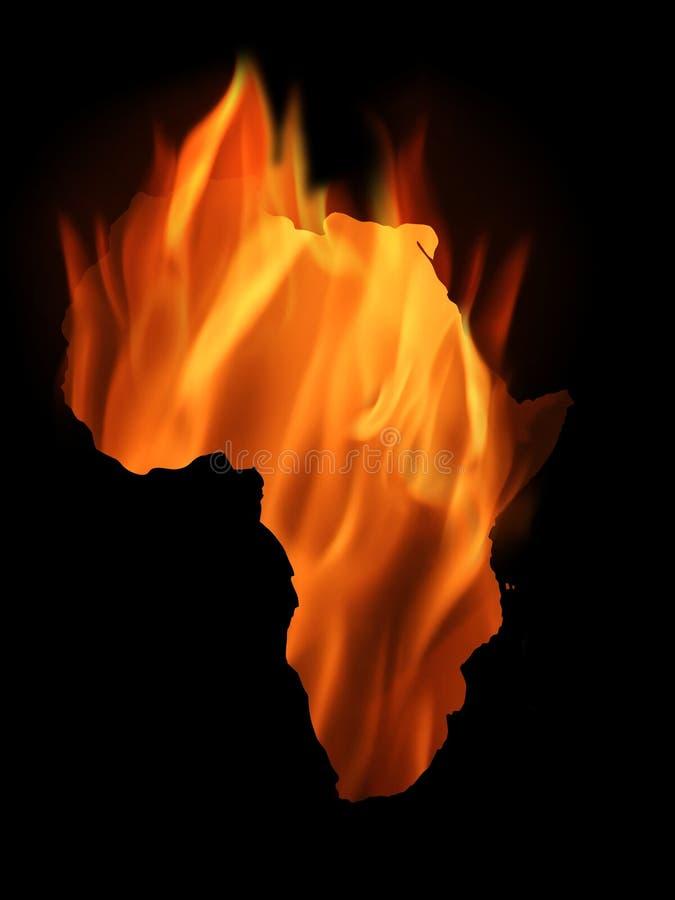 κάψιμο της Αφρικής διανυσματική απεικόνιση