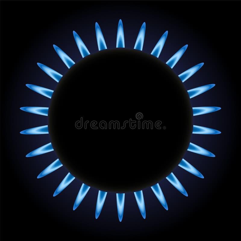 Κάψιμο του αερίου διανυσματική απεικόνιση