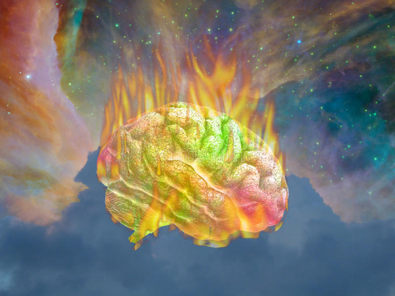 Κάψιμο Psychedelic ελεύθερη απεικόνιση δικαιώματος