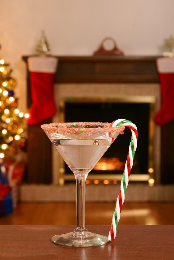 Κάλαμος martini καραμελών Χριστουγέννων στοκ εικόνες με δικαίωμα ελεύθερης χρήσης