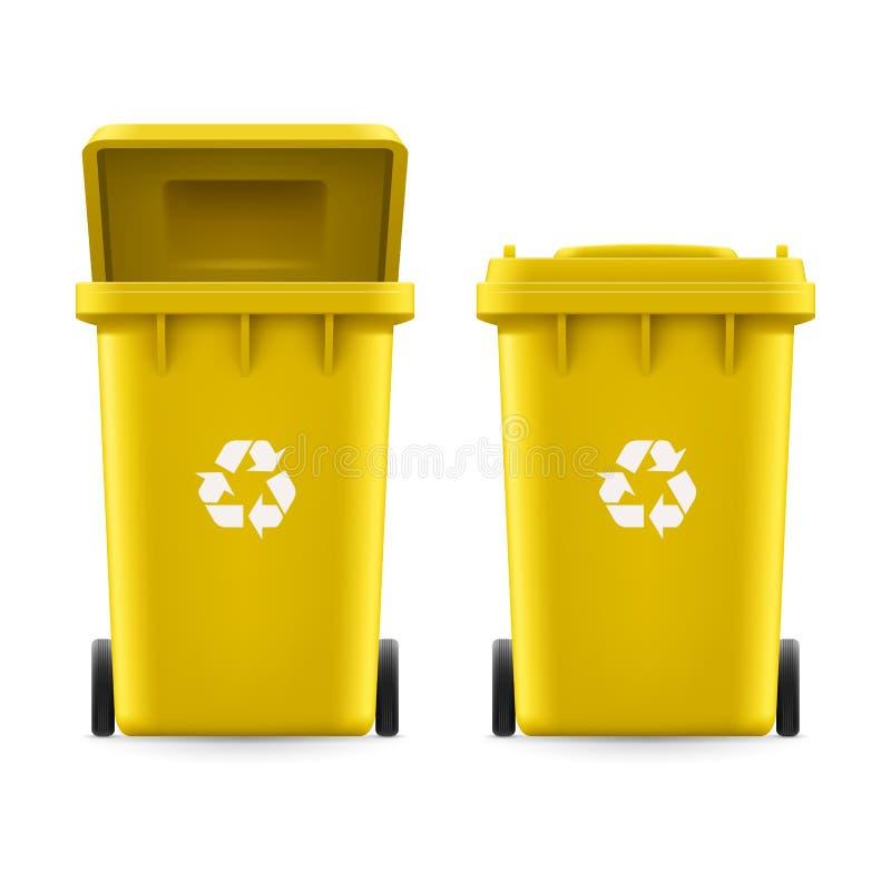 Κάδοι για τα απορρίμματα απεικόνιση αποθεμάτων