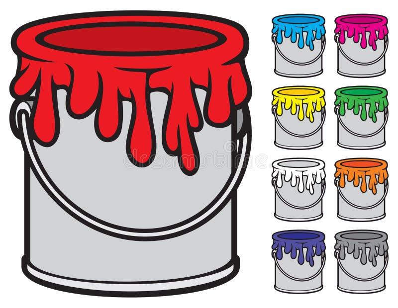 Κάδοι του χρώματος ελεύθερη απεικόνιση δικαιώματος