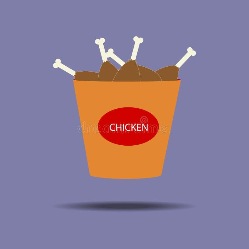 Κάδος του εικονιδίου ποδιών κοτόπουλου ελεύθερη απεικόνιση δικαιώματος