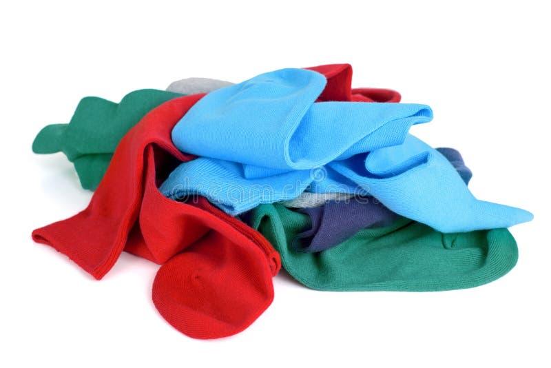 Κάλτσες των διαφορετικών χρωμάτων στοκ εικόνες με δικαίωμα ελεύθερης χρήσης