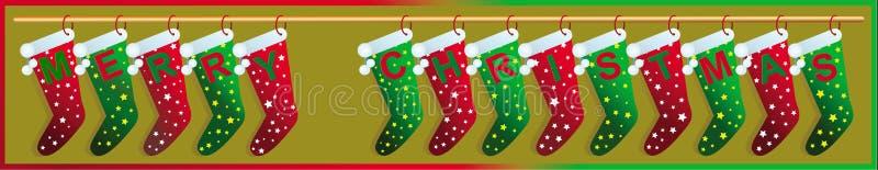 Κάλτσες Χαρούμενα Χριστούγεννας στοκ φωτογραφία με δικαίωμα ελεύθερης χρήσης