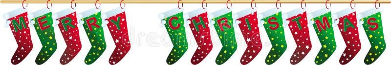 Κάλτσες Χαρούμενα Χριστούγεννας στοκ εικόνες με δικαίωμα ελεύθερης χρήσης
