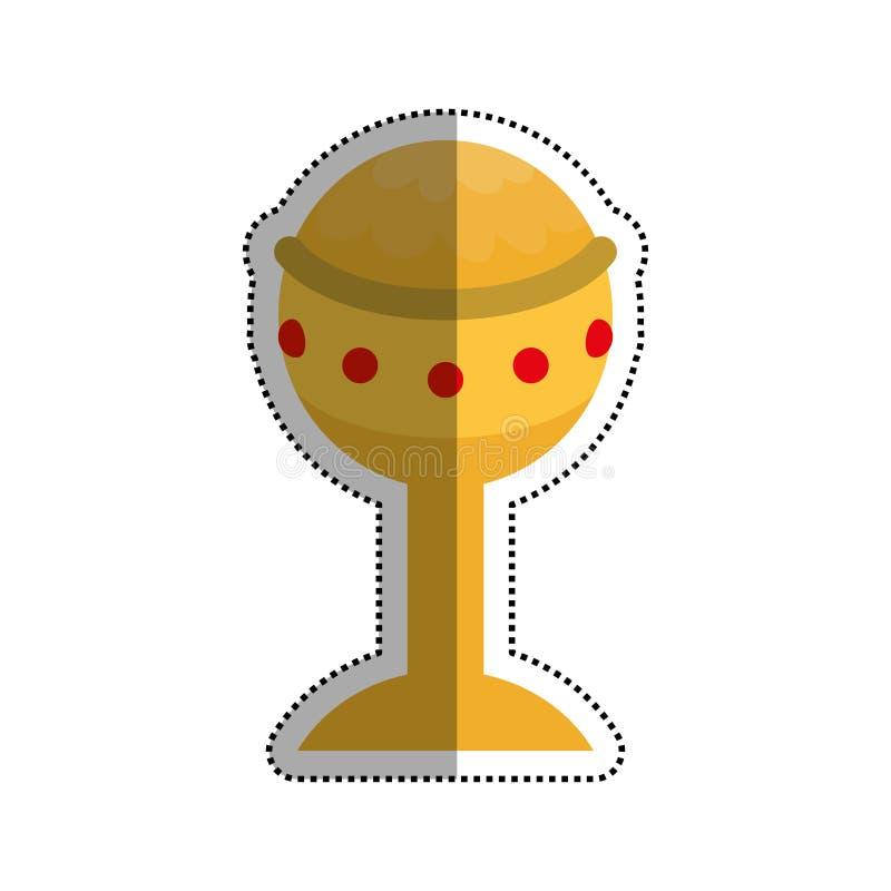 Κάλυκας που απομονώνεται χρυσός διανυσματική απεικόνιση