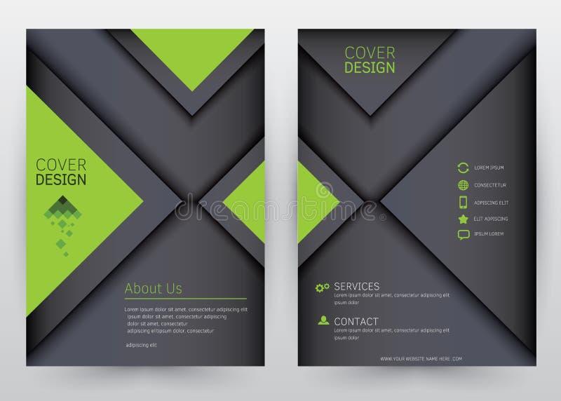 Κάλυψης καθορισμένο φυλλάδιο προτύπων σχεδίου διανυσματικό, ετήσια έκθεση, περιοδικό, αφίσα, εταιρική παρουσίαση, χαρτοφυλάκιο, ι απεικόνιση αποθεμάτων