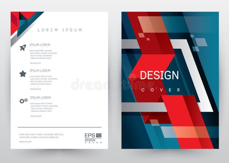 Κάλυψης καθορισμένο φυλλάδιο προτύπων σχεδίου διανυσματικό, ετήσια έκθεση, περιοδικό, αφίσα, εταιρική παρουσίαση, χαρτοφυλάκιο, ι διανυσματική απεικόνιση