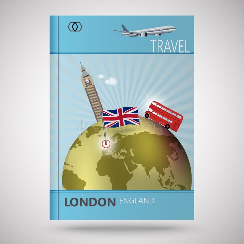 Κάλυψη αφηρημένο Λονδίνο διανυσματική απεικόνιση