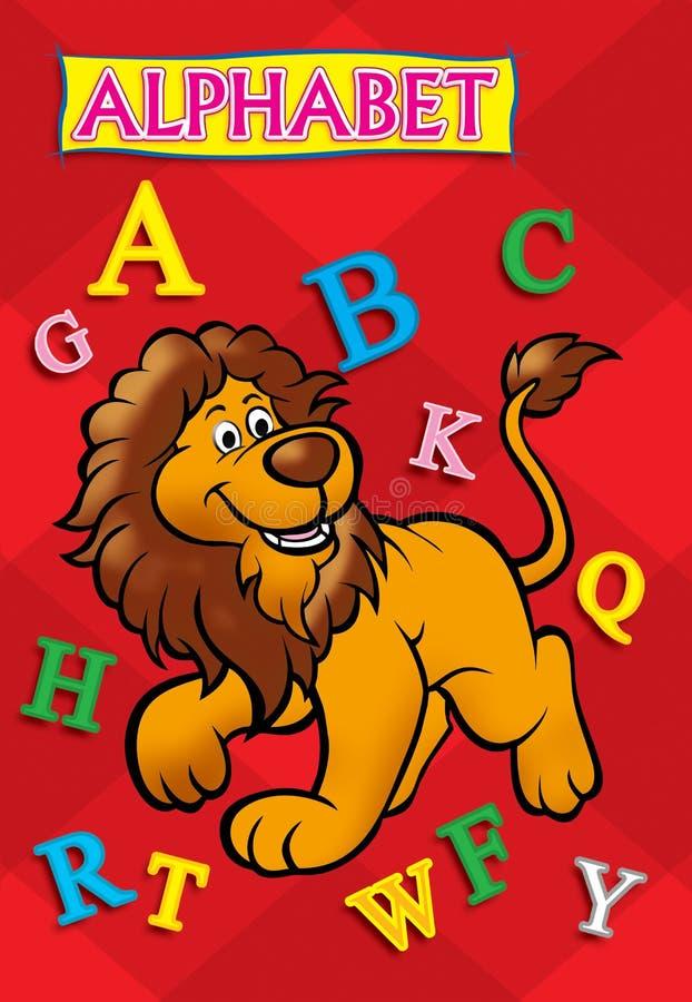 Κάλυψη βιβλίων αλφάβητου στοκ εικόνες