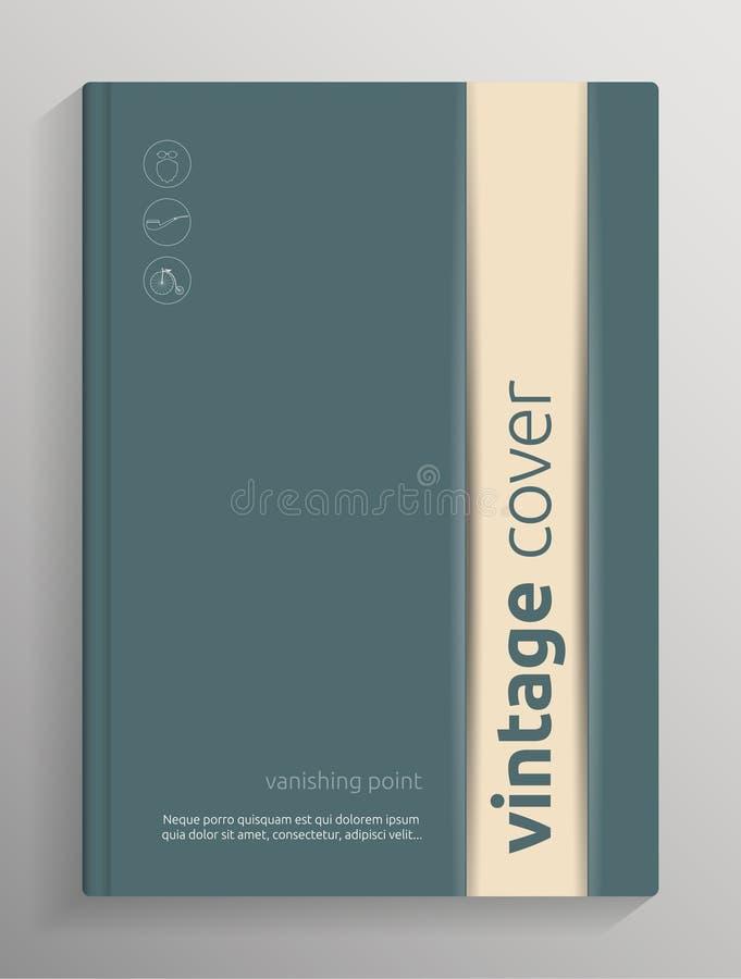 Κάλυψη βιβλίων/φυλλάδιων διανυσματική απεικόνιση