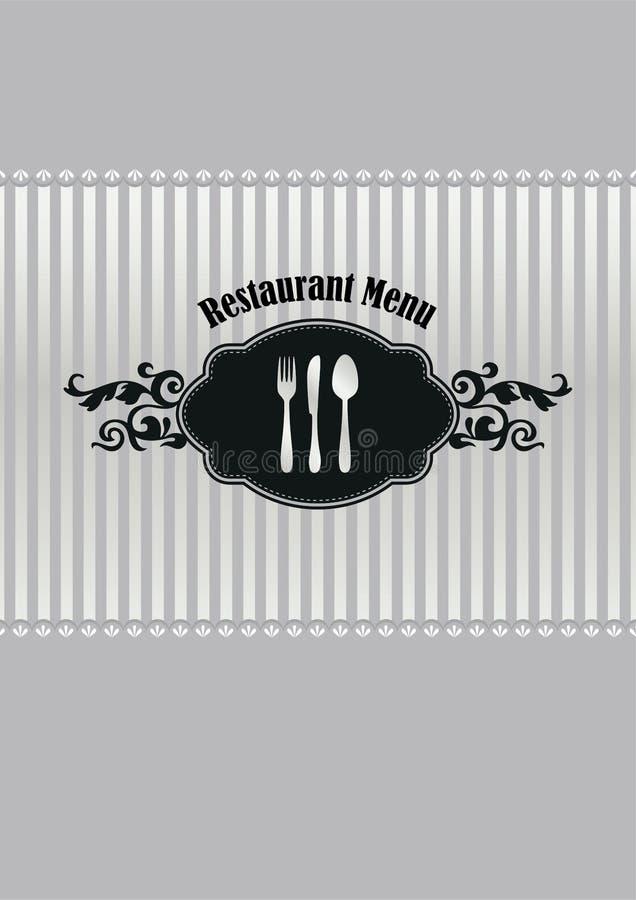 Κάλυψη επιλογών εστιατορίων ασημένιος και μαύρος ελεύθερη απεικόνιση δικαιώματος