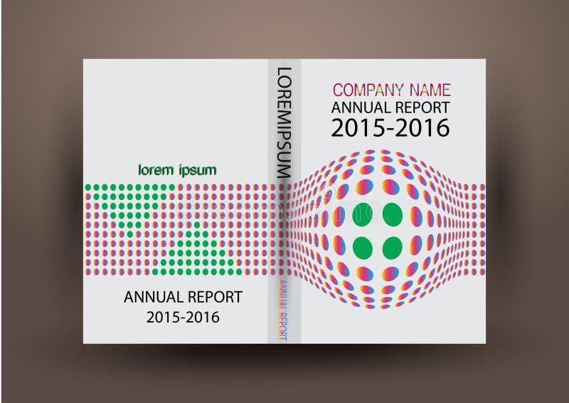Κάλυψη ετήσια εκθέσεων, ζωηρόχρωμο υπόβαθρο σχεδίου εκθέσεων κάλυψης ελεύθερη απεικόνιση δικαιώματος