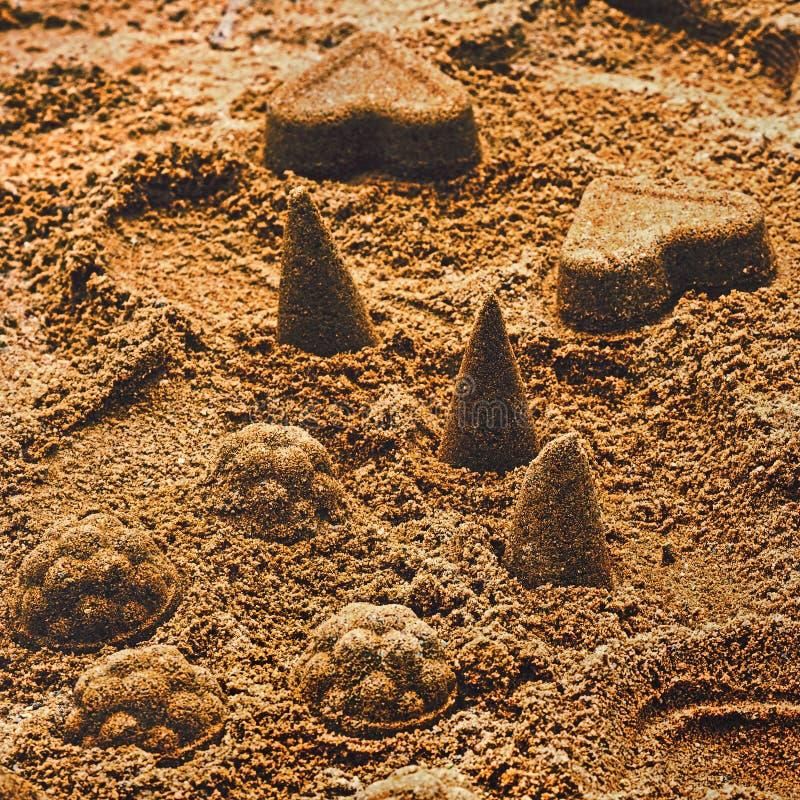 Κέικ άμμου για τα παιδιά στοκ εικόνα