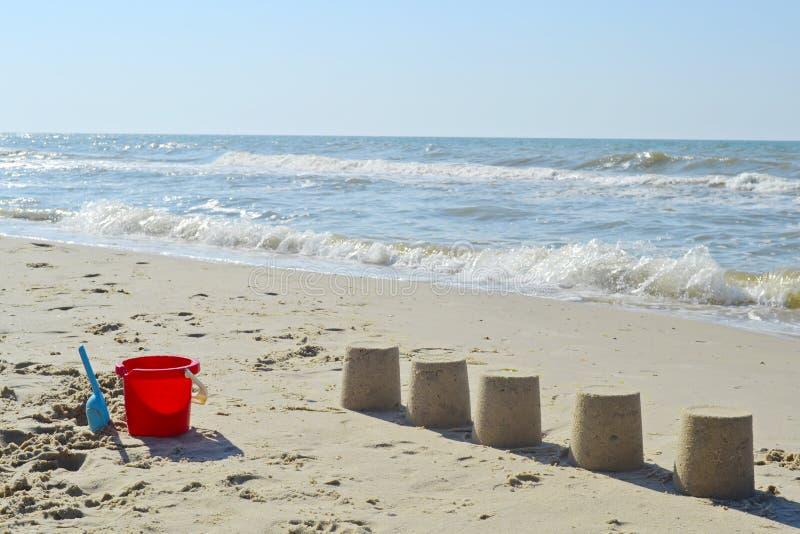 Κέικ άμμου στην παραλία στοκ φωτογραφία με δικαίωμα ελεύθερης χρήσης