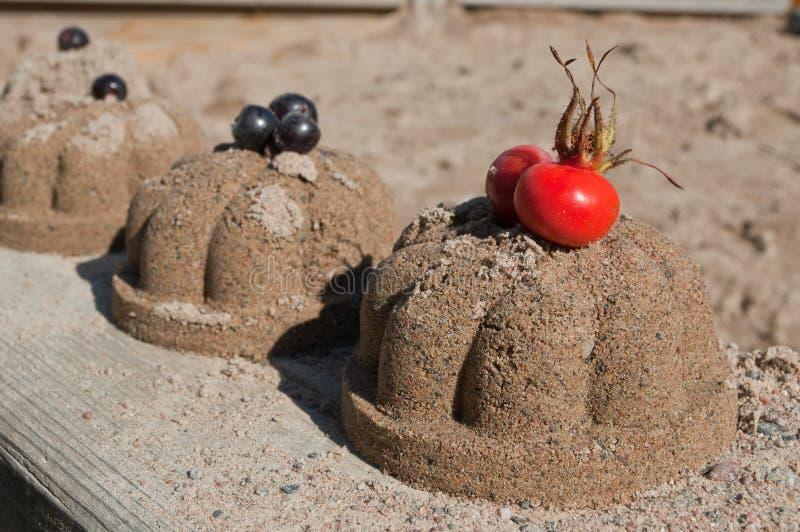Κέικ άμμου στοκ εικόνα με δικαίωμα ελεύθερης χρήσης