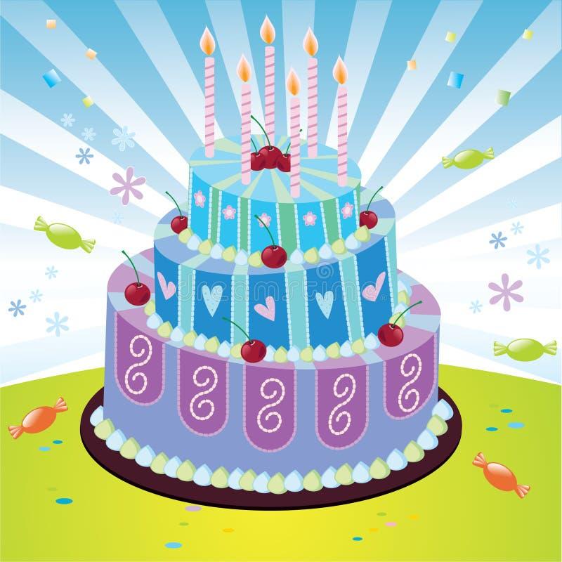 κέικ γενεθλίων ελεύθερη απεικόνιση δικαιώματος