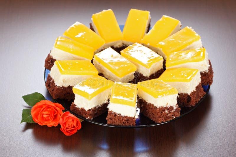 Κέικ γιαουρτιού στοκ εικόνες