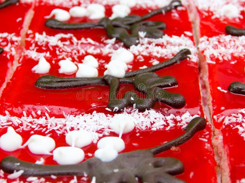Κέικ ζελατίνας φρούτων στενό στον επάνω αγοράς Τοπ όψη Εκλεκτική εστίαση στοκ εικόνες με δικαίωμα ελεύθερης χρήσης