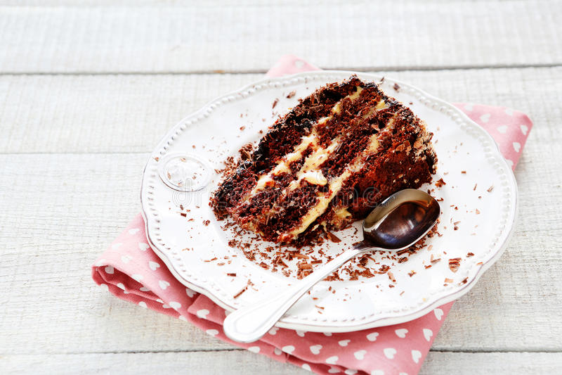 Κέικ καφέ με την καραμέλα στοκ εικόνα