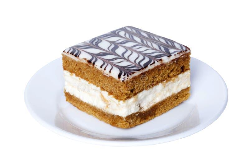 Κέικ μελιού με το πάγωμα σοκολάτας στοκ εικόνα με δικαίωμα ελεύθερης χρήσης