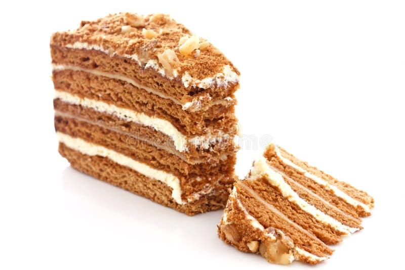 Κέικ μελιού στοκ φωτογραφία με δικαίωμα ελεύθερης χρήσης