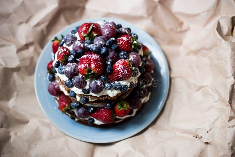 Κέικ μούρων στοκ φωτογραφία