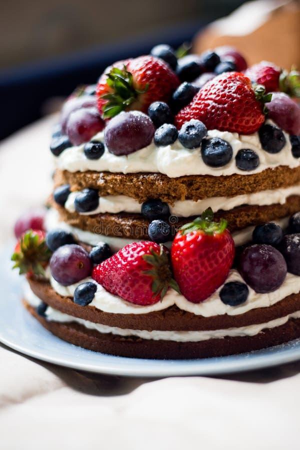 Κέικ μούρων στοκ εικόνα με δικαίωμα ελεύθερης χρήσης