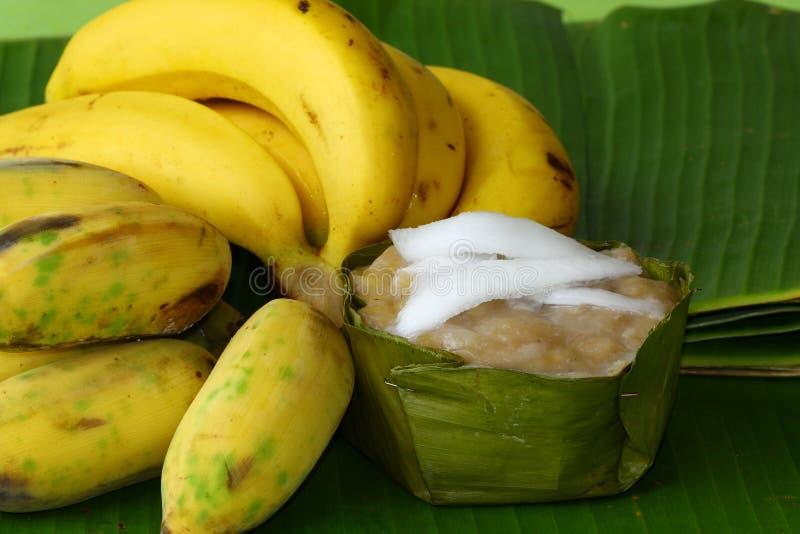 Κέικ μπανανών και μπανανών ατμού στοκ εικόνα